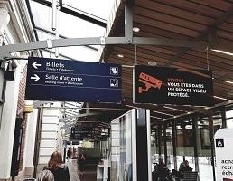 Signalétique de gare réalisée par Semios